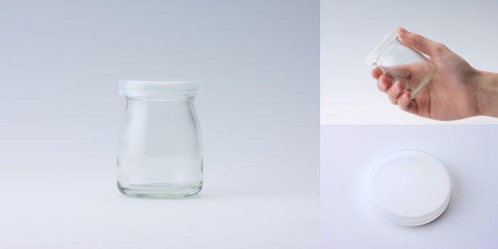 プリン・ヨーグルト瓶  ヨーグルト90 PE CAP付
