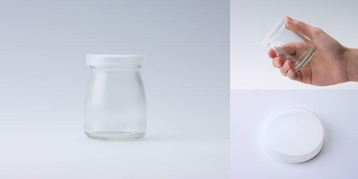 プリン・ヨーグルト瓶  ヨーグルト100 PE CAP付
