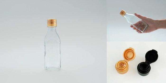 タレ・ドレッシング瓶 調味200角-HC-F