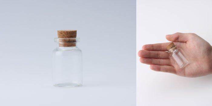 コルク付規格瓶 v30×47