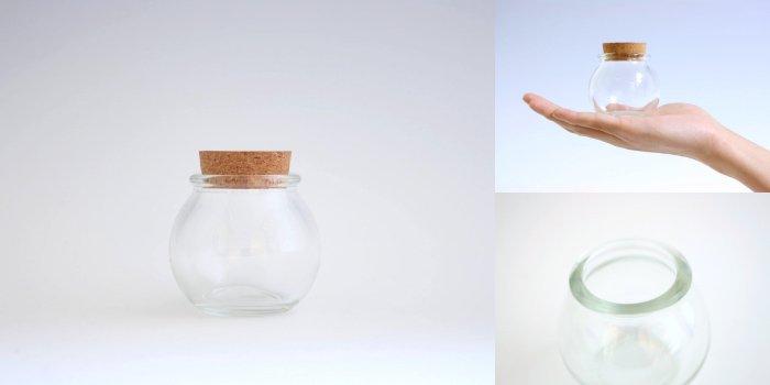 コルク付規格瓶 球ビン 木口