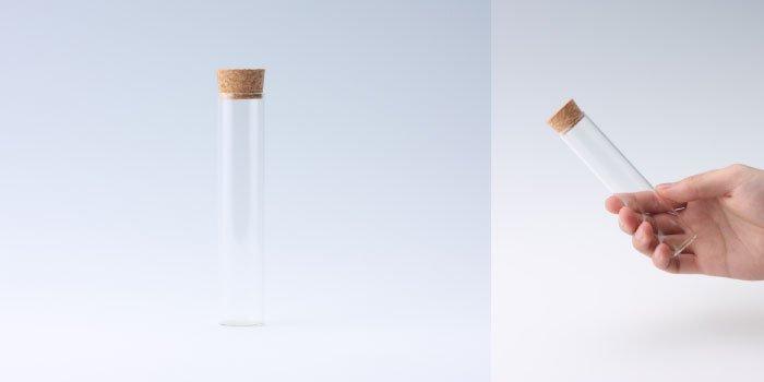 コルク瓶 コルク付瓶 25×120