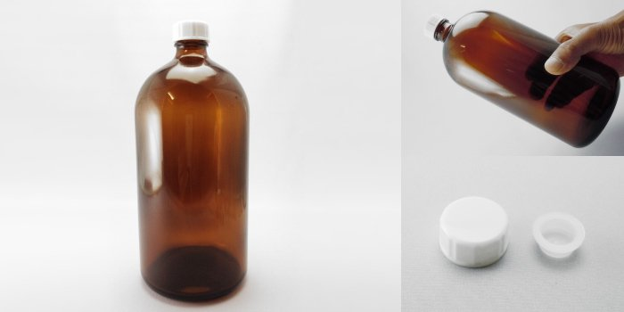 遮光瓶 細口びん 褐色NO.1000