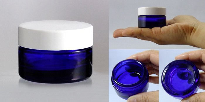 遮光瓶 クリーム瓶 H-30クリーム 白CAP