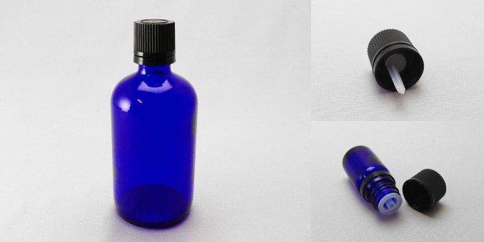 遮光瓶 TBG-100 ブルー