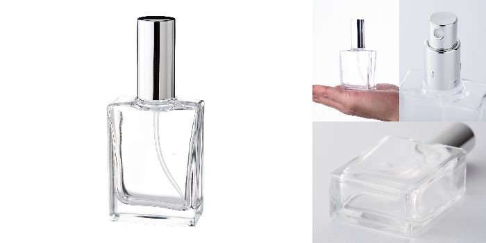 30ml平角瓶スプレー 銀