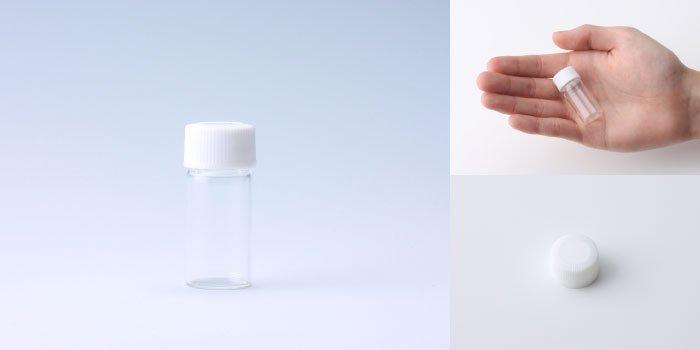 キャップ付瓶 スクリュー管 NO.2 透明 白CAP