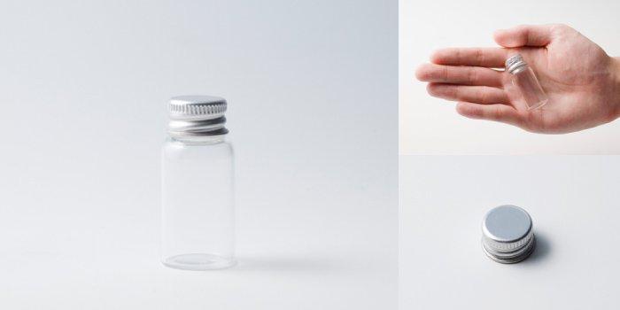 キャップ付瓶 スクリュー管 NO.3 透明 アルミスクリューCAP