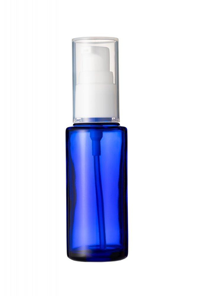 遮光瓶  50cc ブルー ポンプ