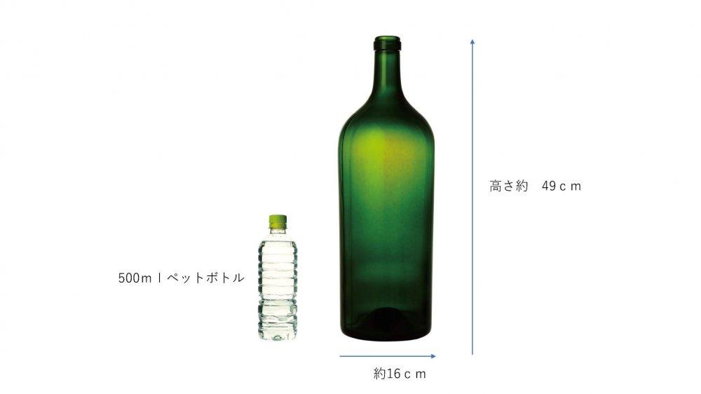 ワイン6リットルグリーン(蓋なし)【画像2】