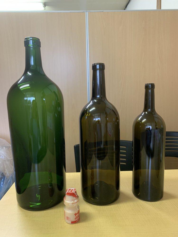 ワイン1.5リットルアンバーグリーン(蓋なし)【画像3】