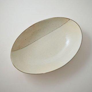 楕円カフェ深鉢 (中) 粉引  [古谷製陶所] Aモヨウ