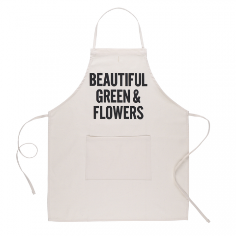 DRESSSEN 「ADULT APRON (BEAUTIFUL GREEN&FLOWERS)」