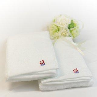 今治タオル フェイスタオル ピュアホワイト Imabari Towel Pure White 83cmx 34cm (2本セット)