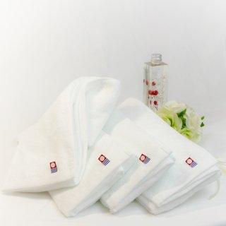 今治タオル フェイスタオル ピュアホワイト Imabari Towel Pure White 83cmx 34cm (4本セット)