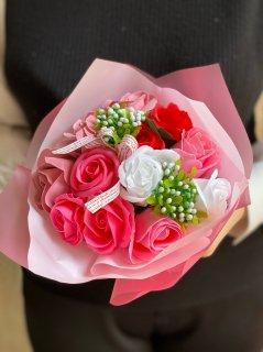 シャボン フラワー 花束 ピンク