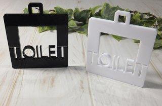アクリル製 サインプレート「TOILET」 選べるカラー ホワイト&ブラック トイレプレート 壁掛け 白黒 インテリア