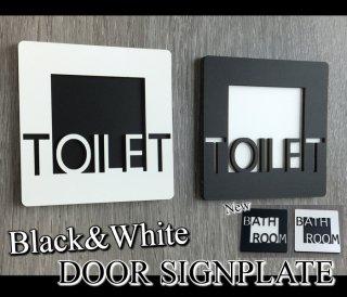 おしゃれな ドアプレート 選べる ブラック&ホワイト 木製 壁付け サインプレート ドアプレート 立体 凸凹