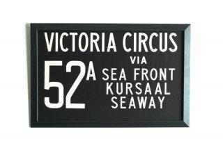 Bus Blind - 52A Victoria Circus via Sea Front Kursaal Seaway