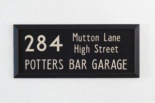 Bus Blind  / 284   Mutton Lane ~ High Street ~ Potters Bar Garage