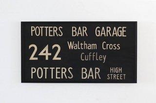 Bus Blind / 242 POTTERS BAR GARAGE ~ Waltham Cross ~ Cuffley ~ POTTERS BAR - HIGH STREET