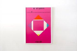 "Max Bill / "" Op Art "" Galerie Esslingen 1965"