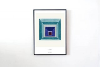 """Lissa Thimm / """"Blue Square"""" POSTER 700 × 500 mm"""