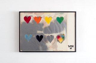 Jim Dine / 8 hearts