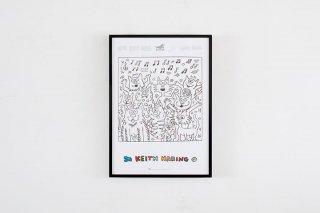 """Keith Haring  """"Cats""""  1991"""
