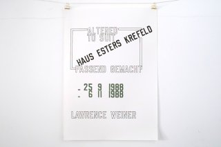 Lawrence Weiner / Haus Esters - 1988 -