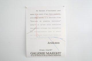 Arakawa Shusaku / Galerie Maeght 1977