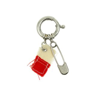 SAFETY PIN CHARM WITH FLAG