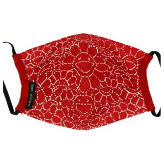 MESH FLOWER PATTERN MASK
