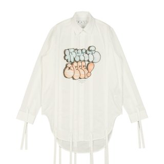 WHITE OFFF GRAF PULL-UP SHIRT