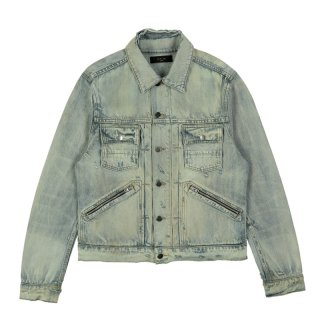 DOUBLE SLANT DENIM JACKET