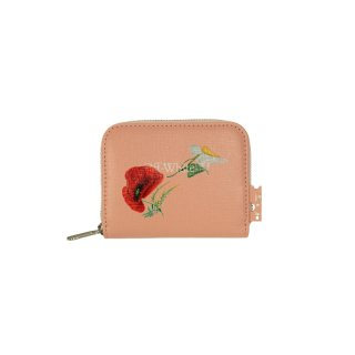 FLOWERS PURSE ZIP AROUND