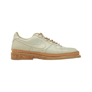 NIKE AIR FORCE LOW WHITE TAN LEATHER CORK SOLE