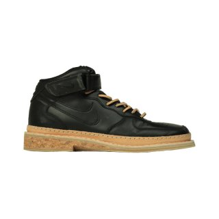 NIKE AIR FORCE MID BLACK TAN LEATHER CORK SOLE