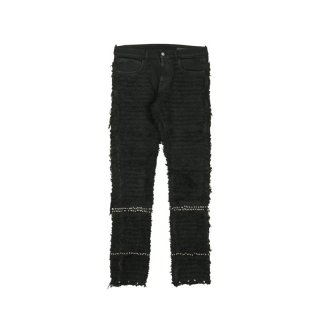 STUDDED BLACKMEANS 6POCKET JEAN