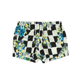 CHECK FLOWERS SWIMSHORTS