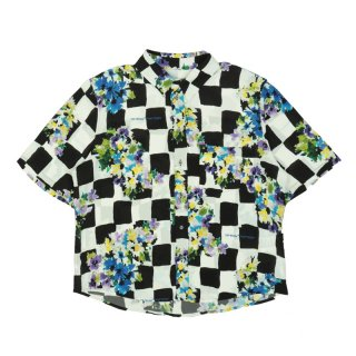 CHECK FLOWERS S/S SHIRT