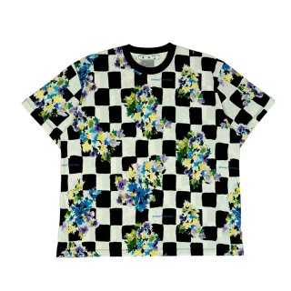 CHECK FLOWERS S/S OVER TEE