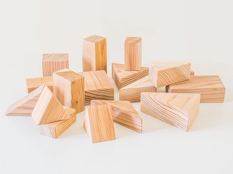 おび杉積み木セット