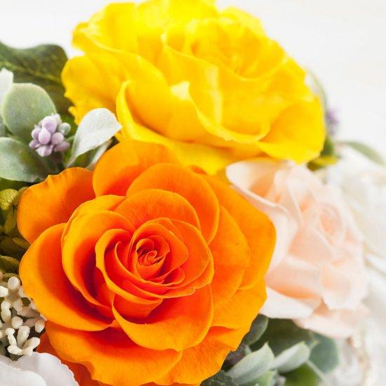 黄色のバラのプリザーブドフラワー小枝のバンドルアレンジ バンドル(イエロー) ※ギフトタイプ3