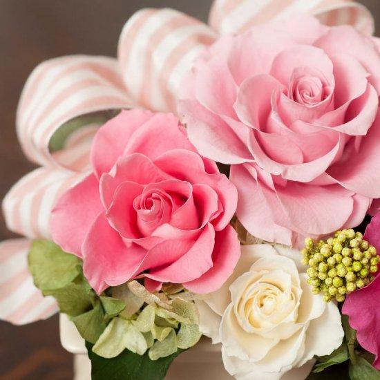 ピンクのバラのプリザーブドフラワーアレンジメント メアリー(ピンク) ※ギフトタイプ3