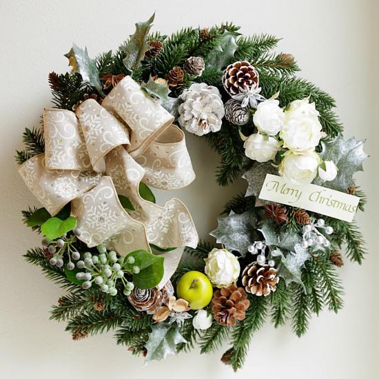 ホワイトクリスマスリース※ギフトタイプ4