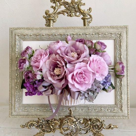 花絵 クリスタルピンクの壁掛けアレンジ※ギフトタイプ5