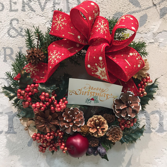 木の実のクリスマスリース ※ギフトタイプ4