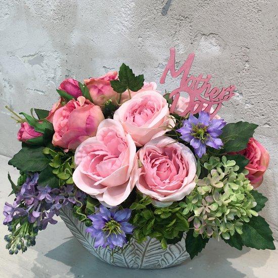 ピンクのバラとニゲラのアレンジメント 母の日※ギフトタイプ1