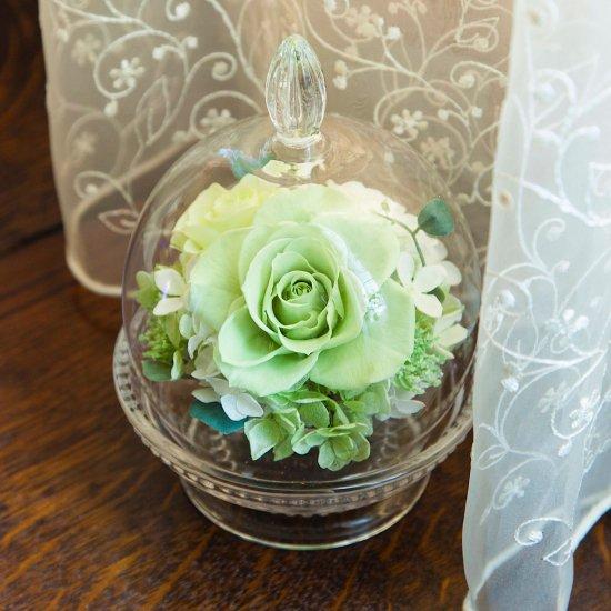 ガラスドーム グリーン 母の日※ギフトタイプ2